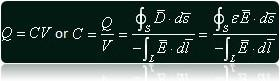 The Formula for Determining the Electric Capacitance